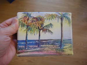 Miniature Watercolor on Canvas