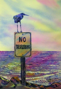 No Trespassing Painting