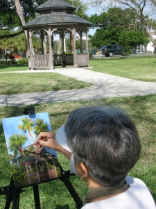 Debbie Painting in the Park 02