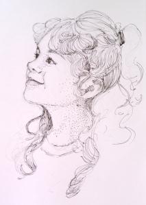 Curly Hair Sketch